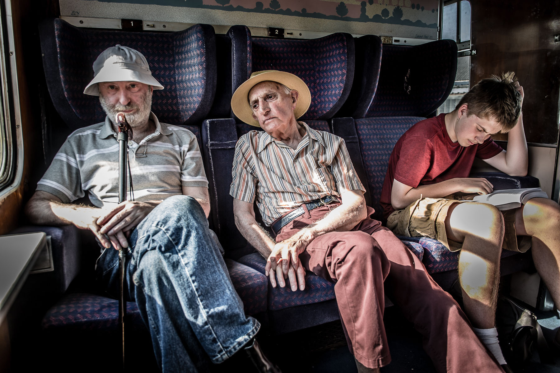 Three Generations on a train, UK